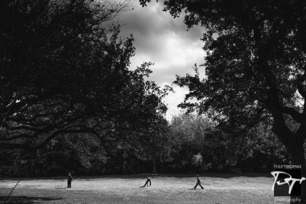 Boys playing in Green Pastures, Austin