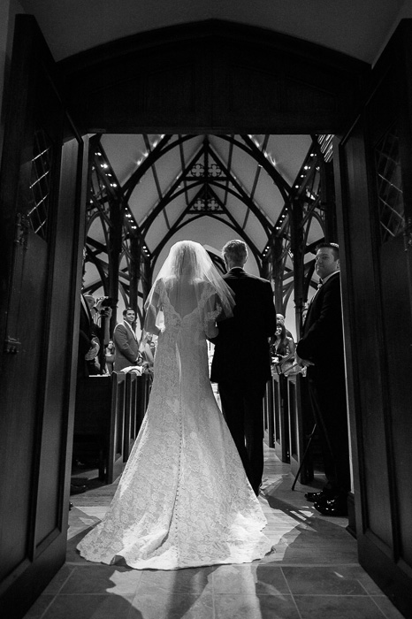 Bride with father at St.Mark's Episcopal Church, San Antonio