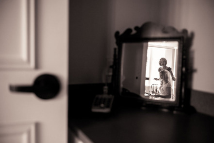Mother and daughter - final touches -Philip Thomas Photography